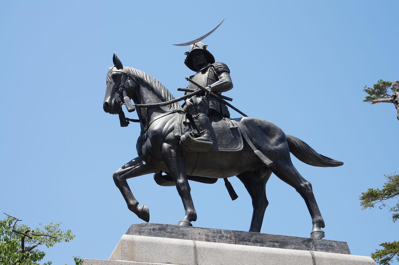 仙台城(青葉城跡) 伊達政宗騎馬像