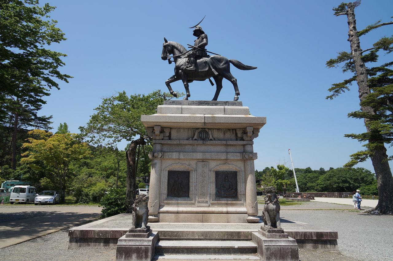 仙台城(青葉城跡)伊達政宗騎馬像