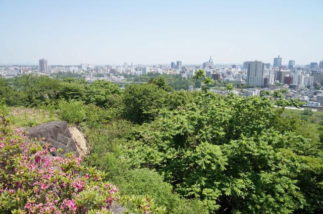 仙台城(青葉城跡) 仙台を一望