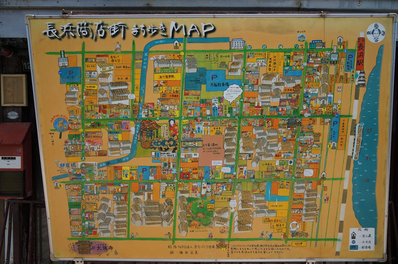 長浜商店街MAP